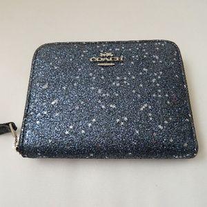 COACH Star Glitter Small Zip Around Wallet